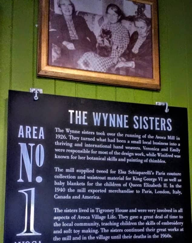 The Wynne sisters the original owners of the Avoca mill