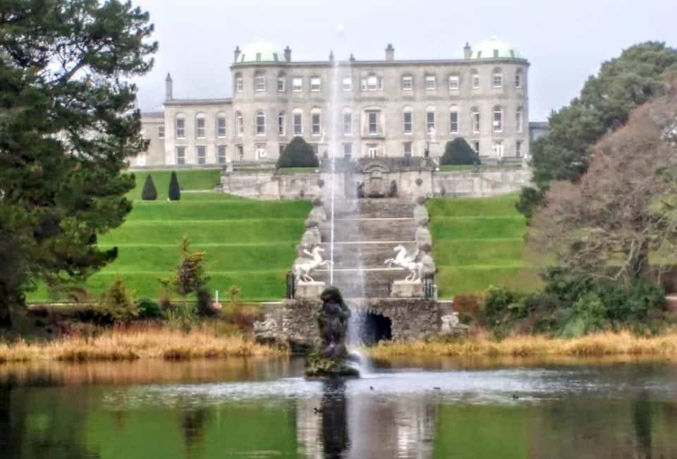 Powerscourt a view of the house from the gardens