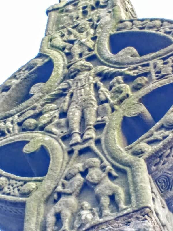 Monasterboice & Kells a close up of the high cross at Monasterboice