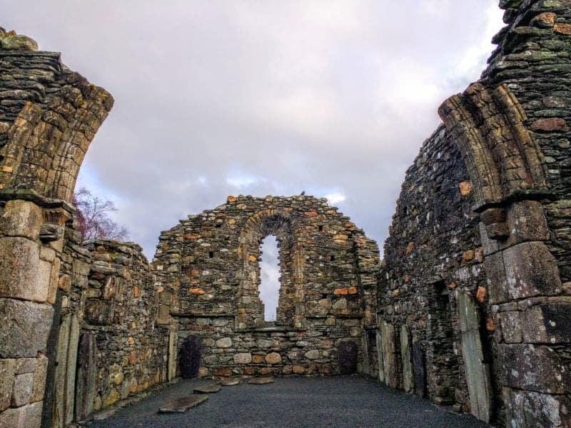 Glendalough Ireland the ruins at the monastic site