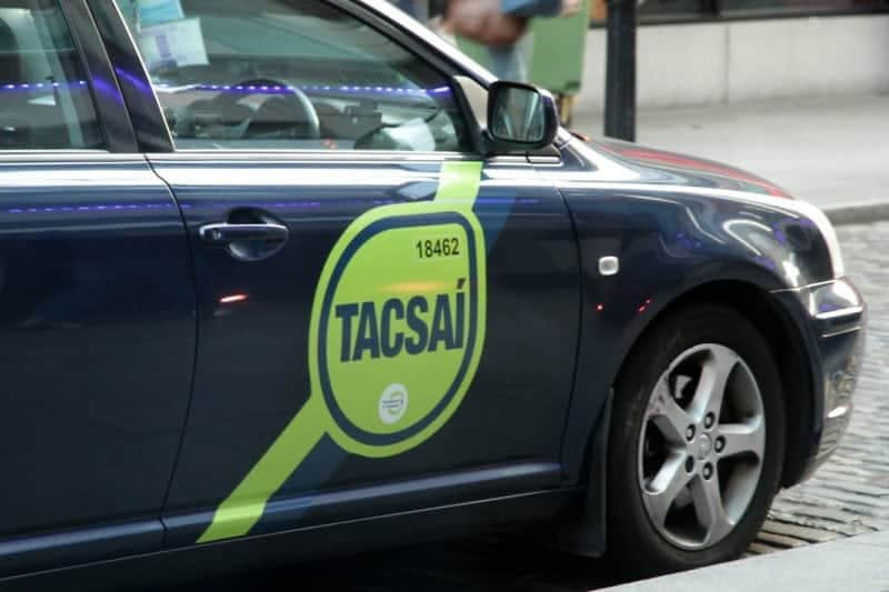 a tacsai or taxi in gaelic which you may need when you come to Ireland for a visit
