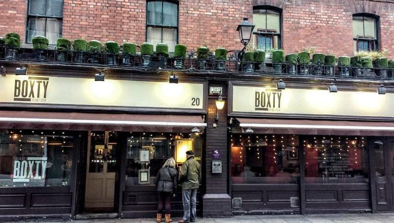 The Boxty House in Temple Bar Dublin