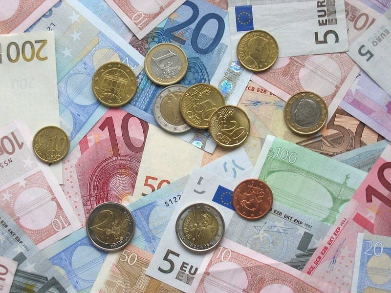 a photo of the various Euro bills and coins - must haves when visiting Ireland