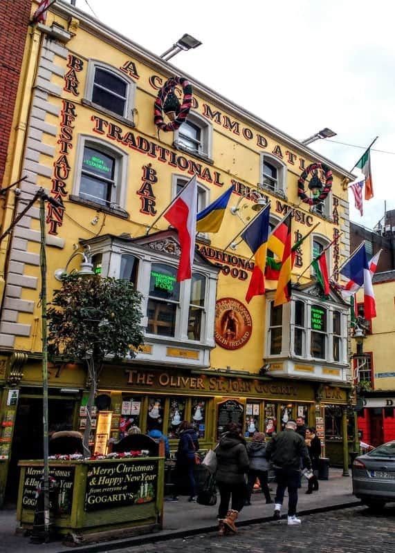 Gogarty's in Temple Bar Dublin, great traditional music sessions