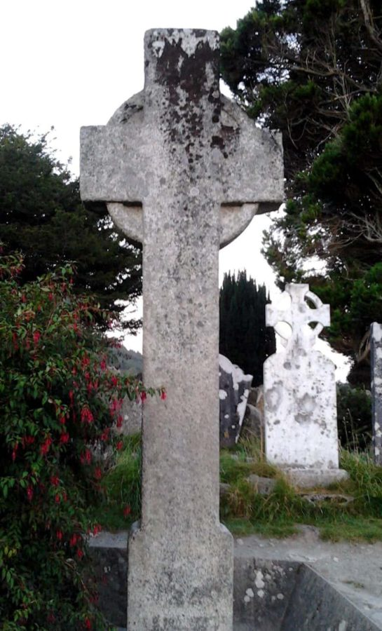 Glendalough Ireland a very early Christian cross