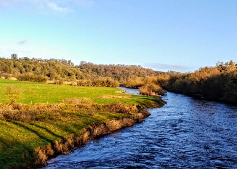 the Boyne river which you cross to get to the tour bus at Newgrange