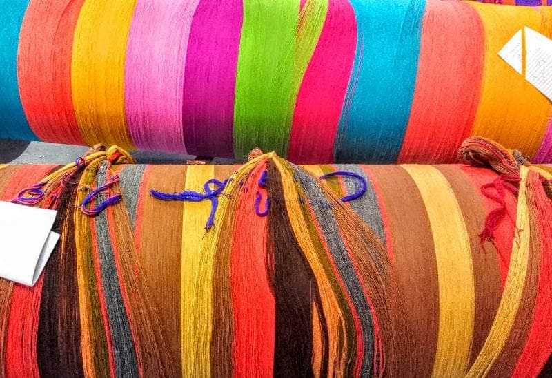 warp threads in the Avoca Mill