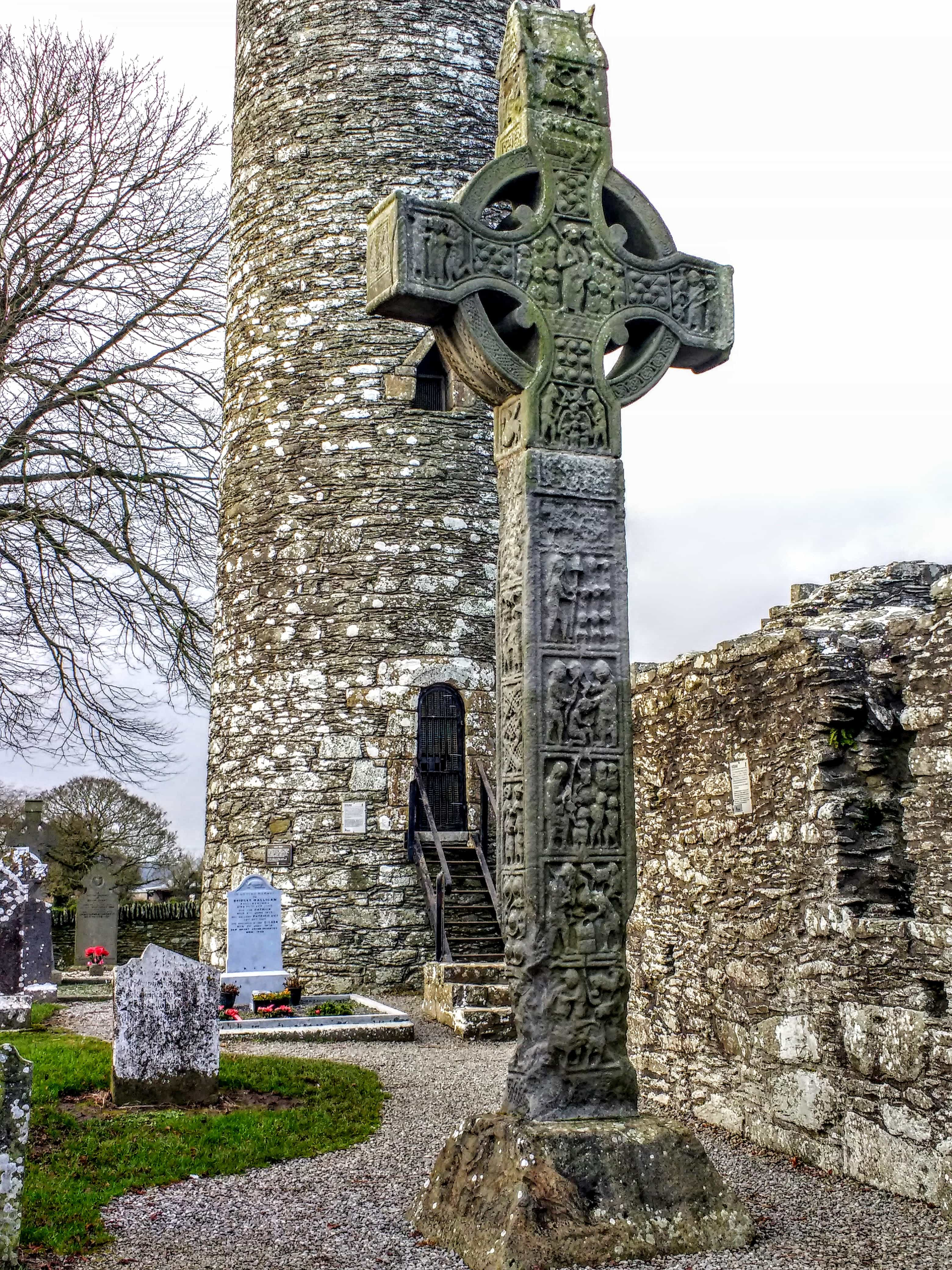 Monasterboice high crosses and Norman Tower