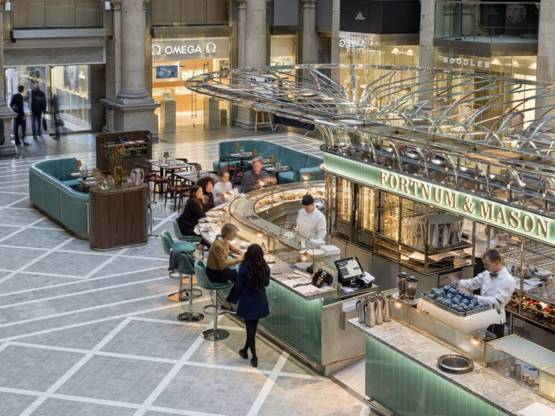 the food halls at Fortnum and Masons in London