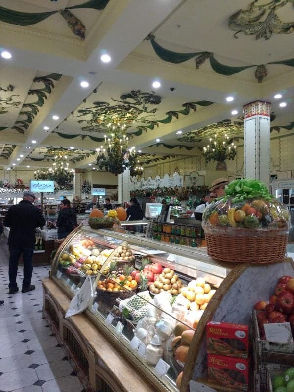beautiful tiled ceilings in Harrod's food hall