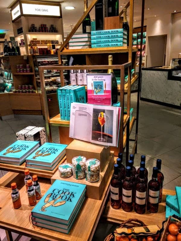 Fortnum's cookbooks for sale in the food hall
