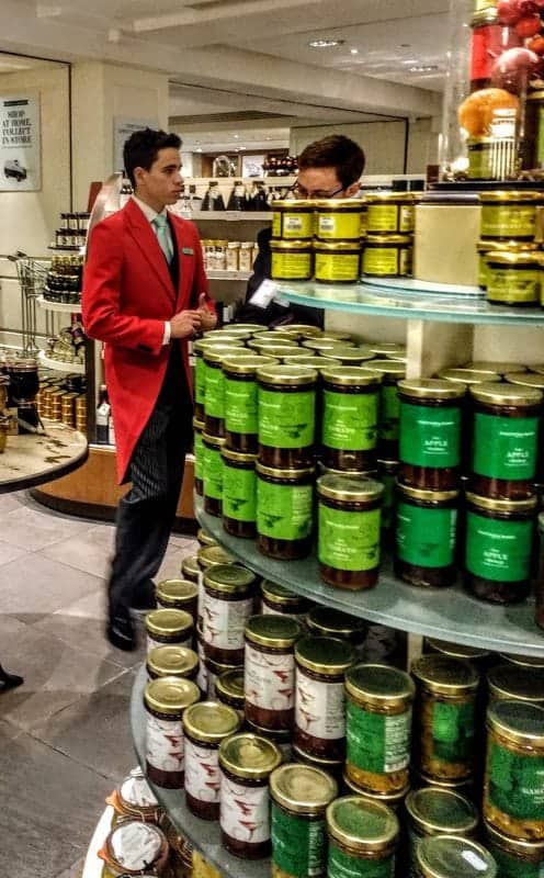 love the fancy staff tail coats for the food halls at Fortnums