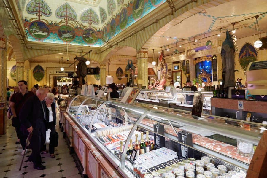 Food Halls in London living it up at Harrods Food Hall