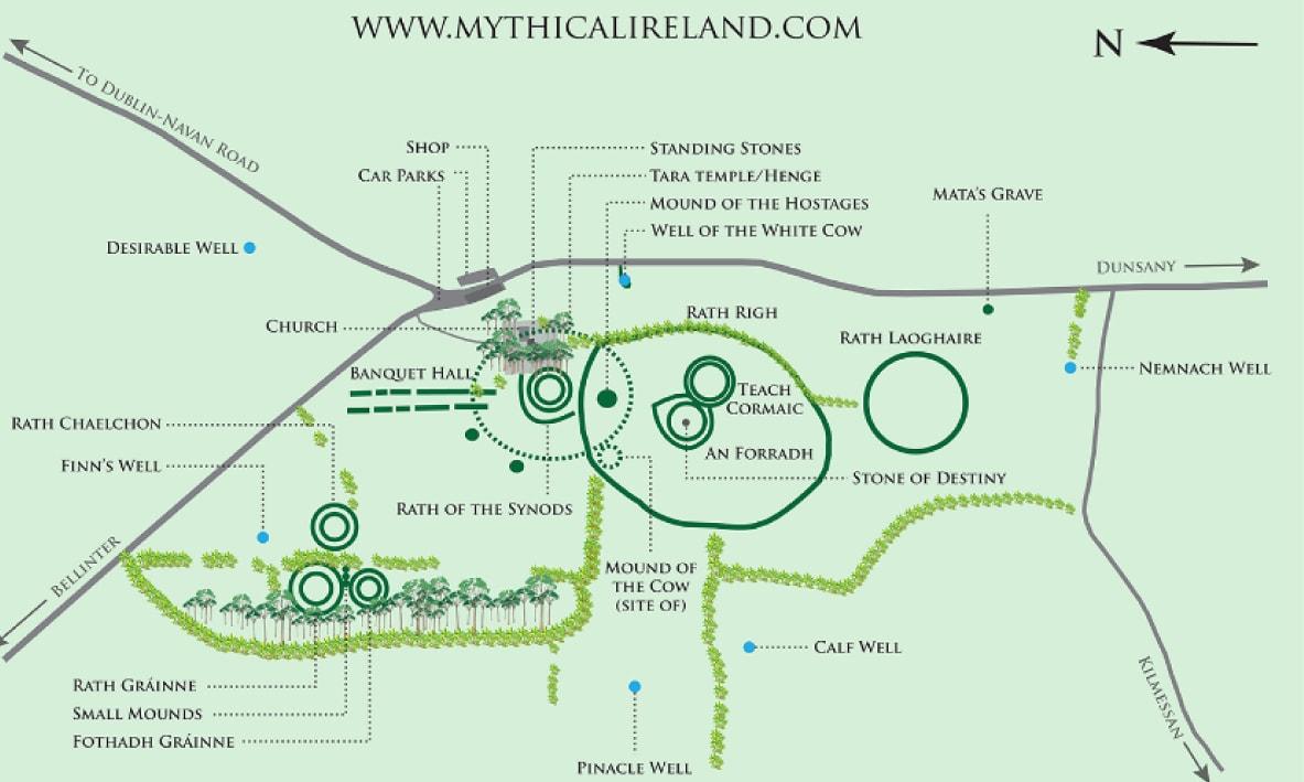 map of Tara from Mythical Ireland