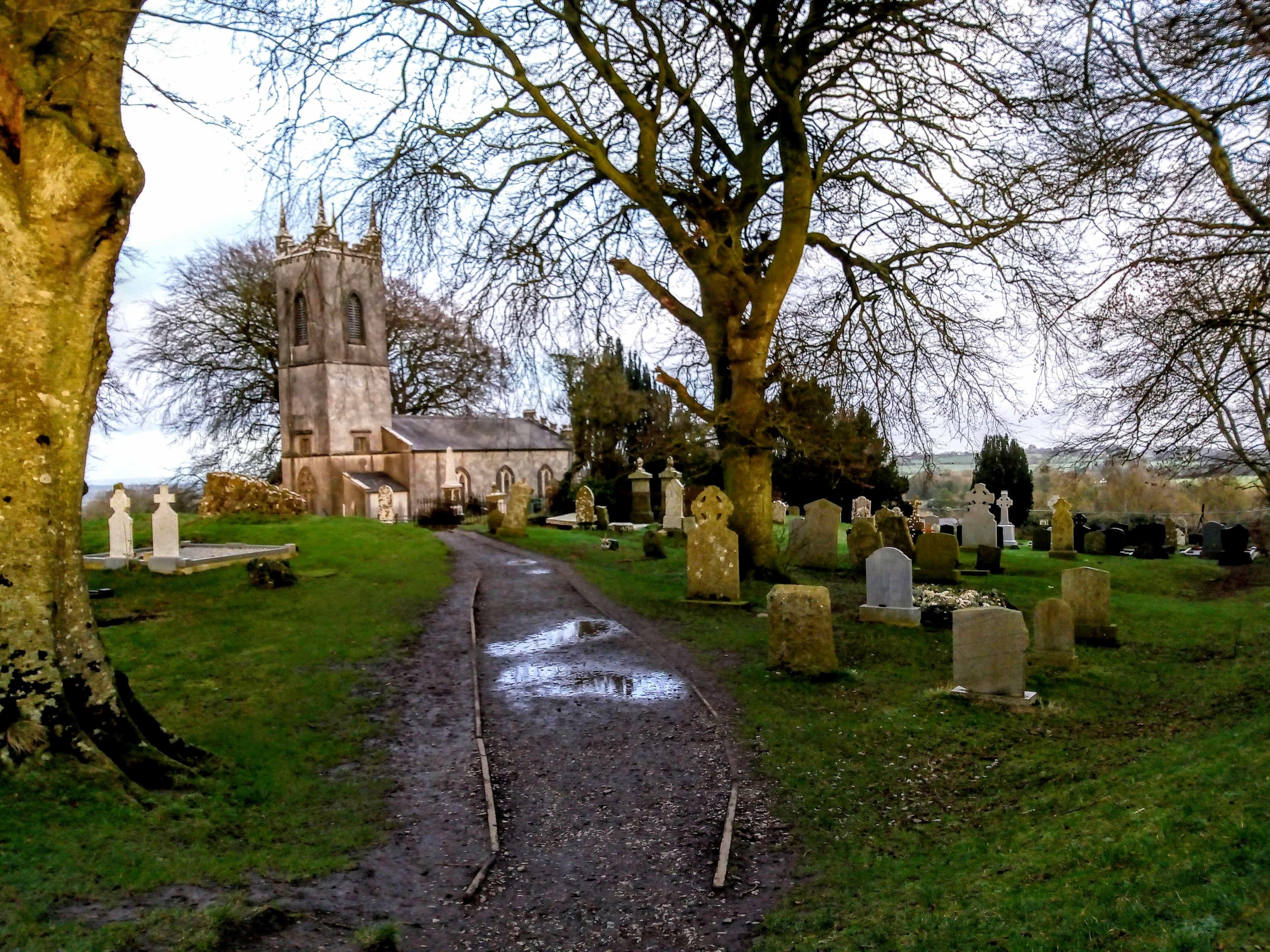 churchyard with standing stones historical sites of ireland Tara