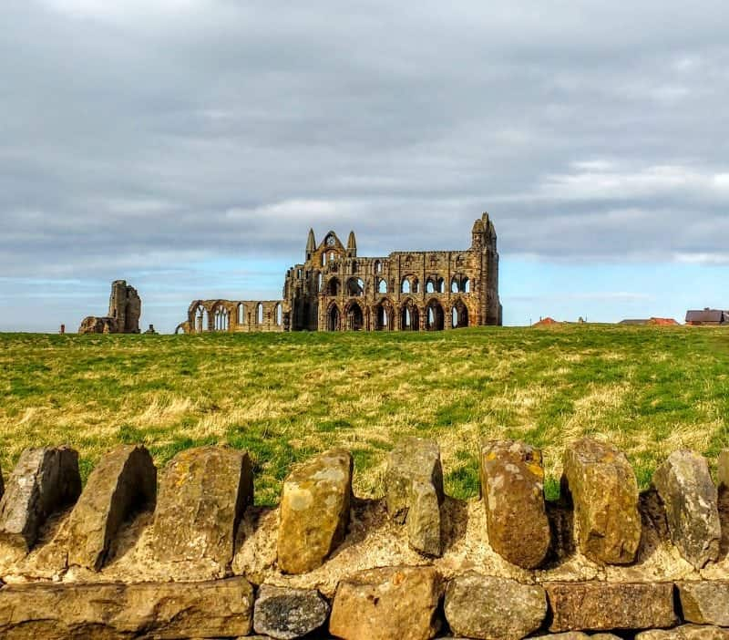 Whitby Abbey Bram Stokers inspiration for Dracula on the headland in Yorkshire