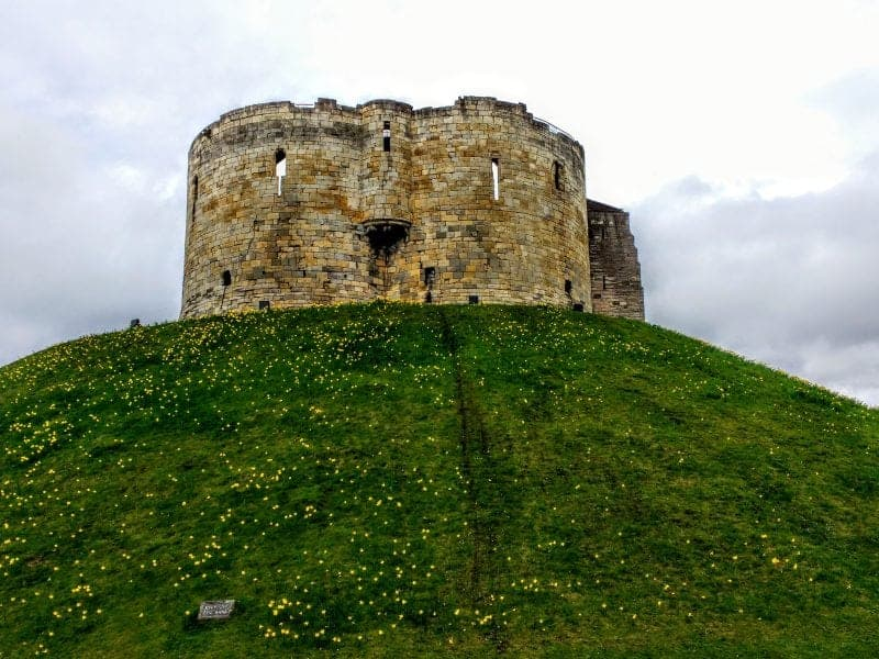 Cllifford's Tower in York - things to do in Yorkshire