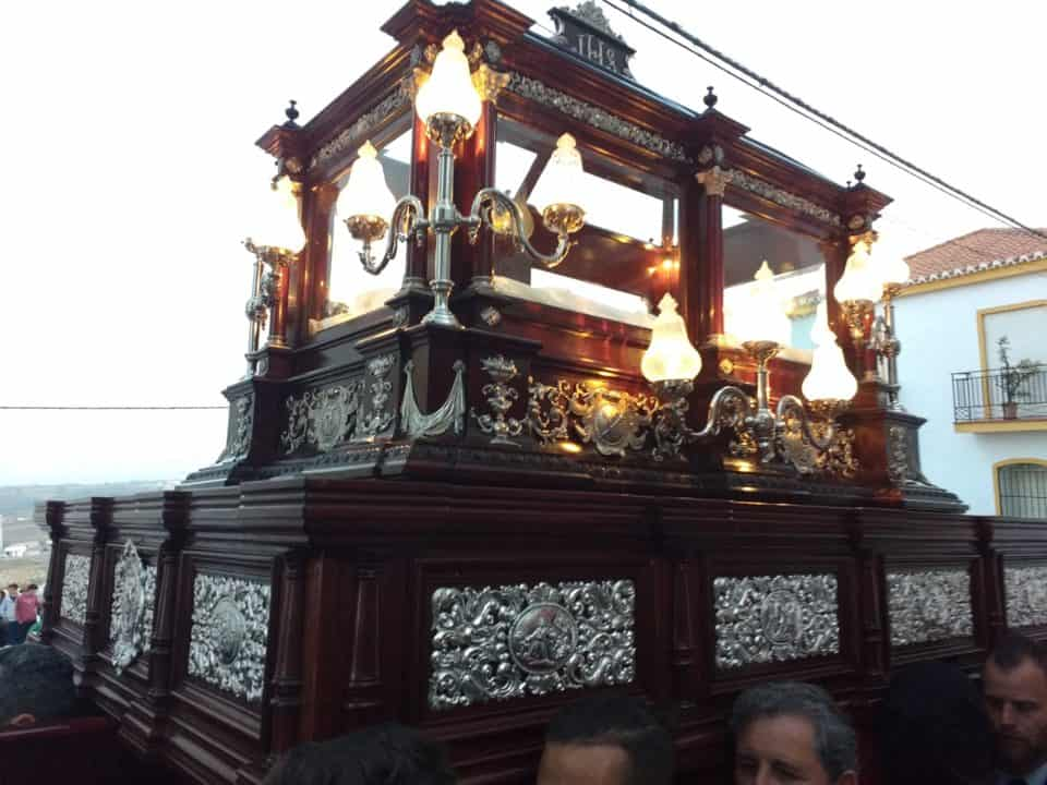 Holy Week in Spain celebrating Easter and he is risen