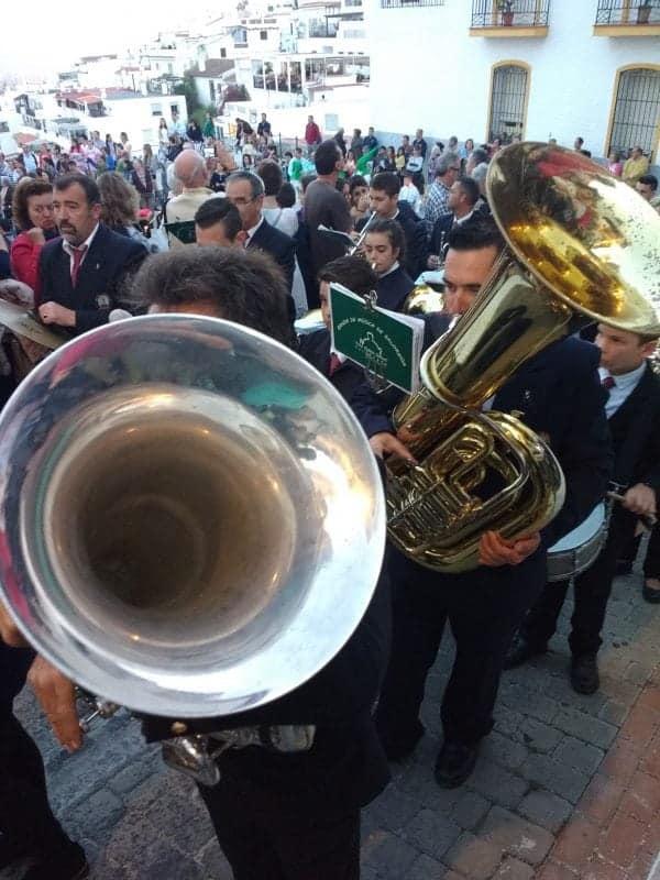 musical band for the Semana Santa procession in Salobrena