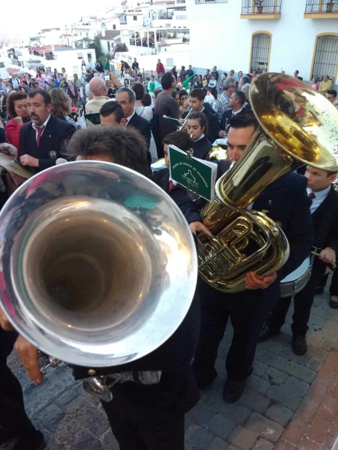 live music band celebrating Semana Santa in Spain