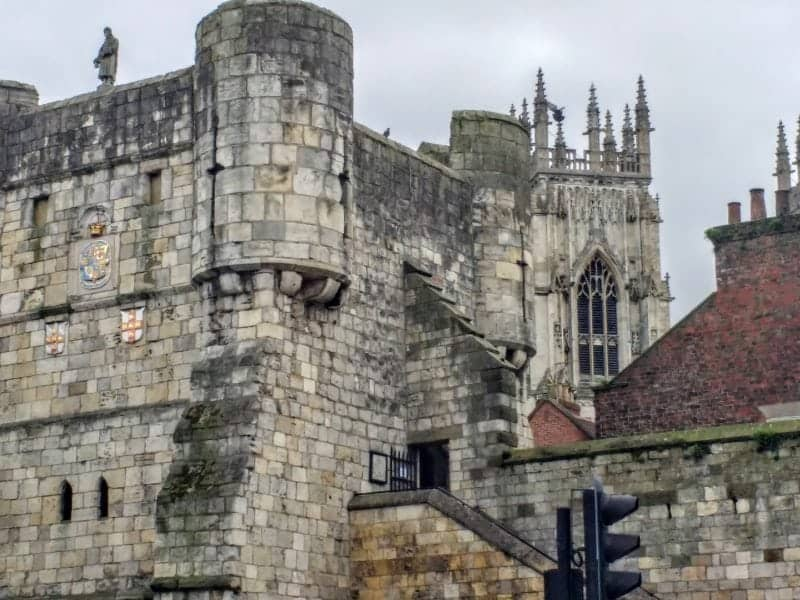 medieval city walls in York