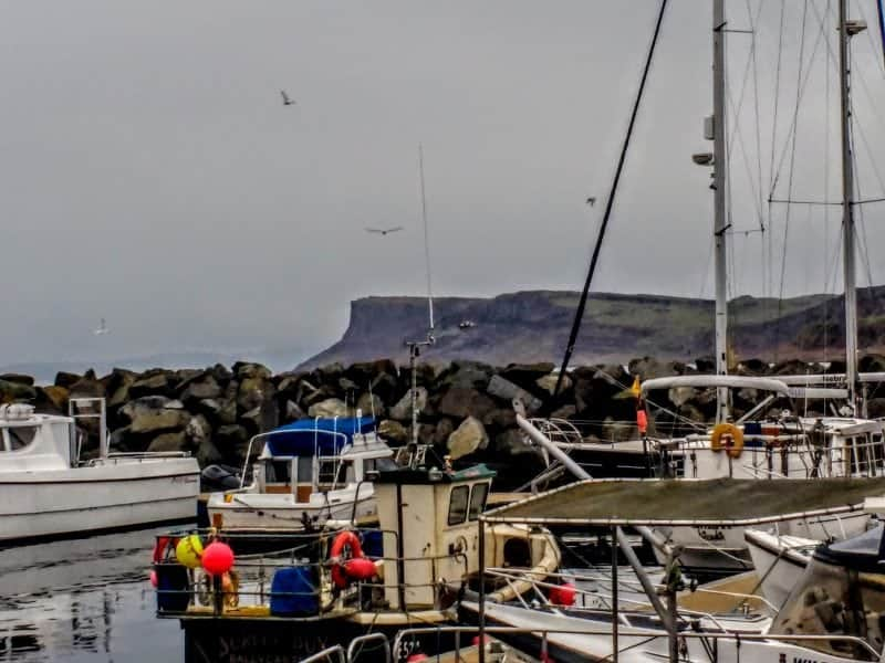 the harbour at Ballycastle