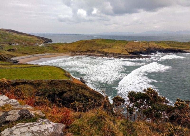 Muckross Head Beach a view from the hills