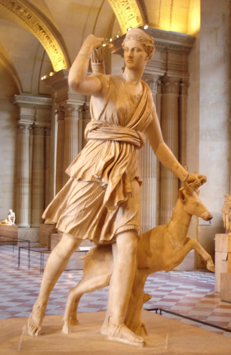 statue of Artemis from the Louvre in Paris