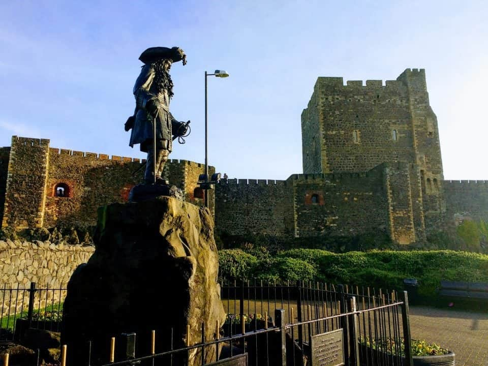 Carrickfergus Castle in County Antrim - haunted castles in Ireland