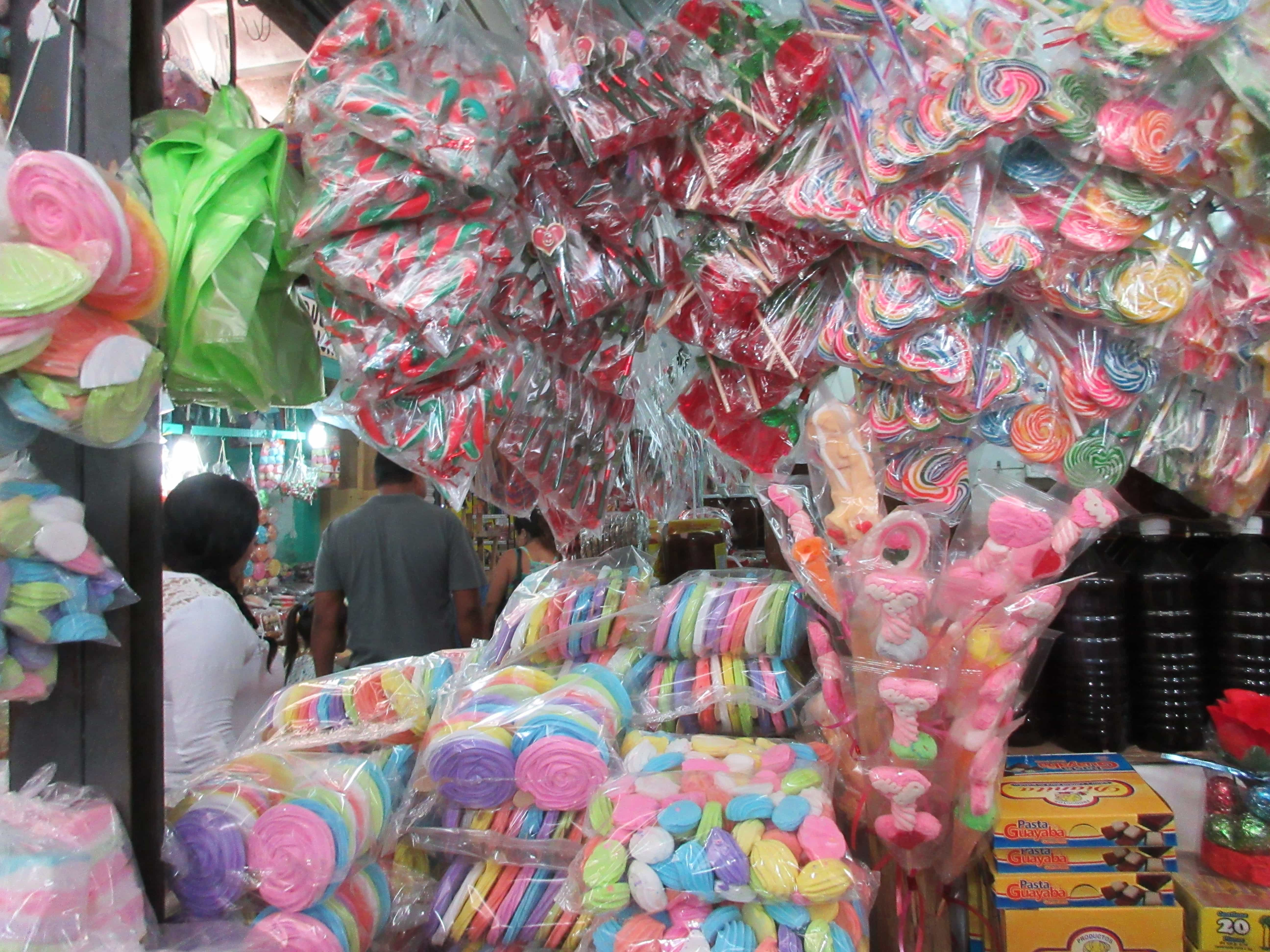 candy store in the Lucas Galvez Market Merida