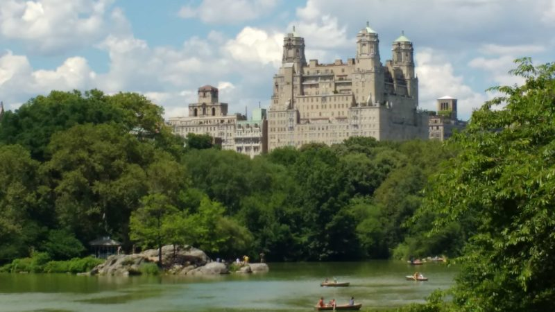 New York City Sights Central Park lake