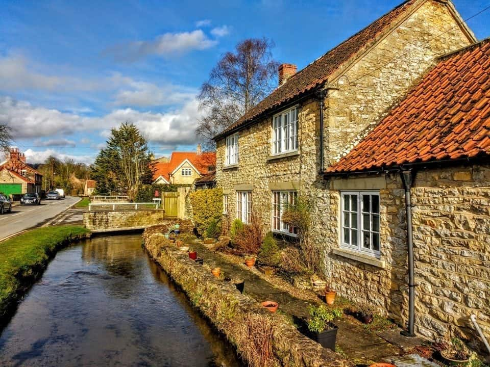 Thornton le Dale by the canal one of Yorkshire's Market Towns