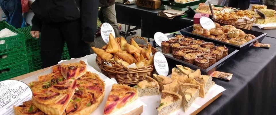 your picked of foods to eat on the go at the Malton Market in Yorkshire a true foodies heaven