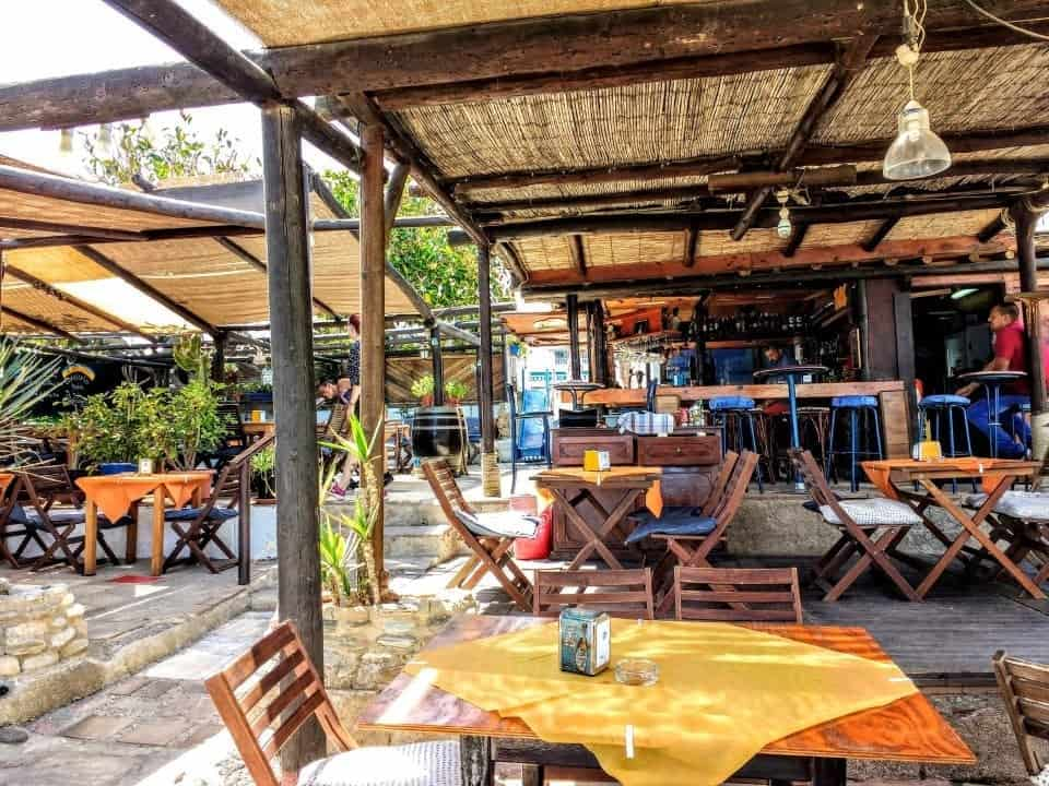 beach bar in Mojacer on the Costa de Almeria