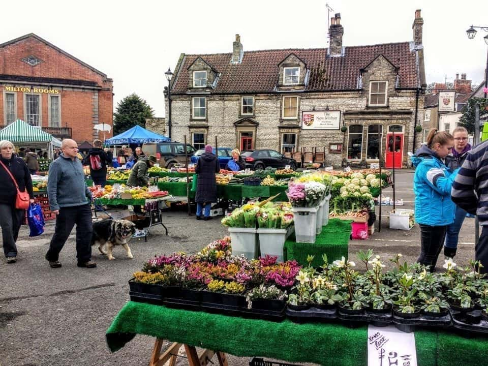 Malton Market in Yorkshire if you want to move to the UK, Yorkshire is a beautiful location to live in