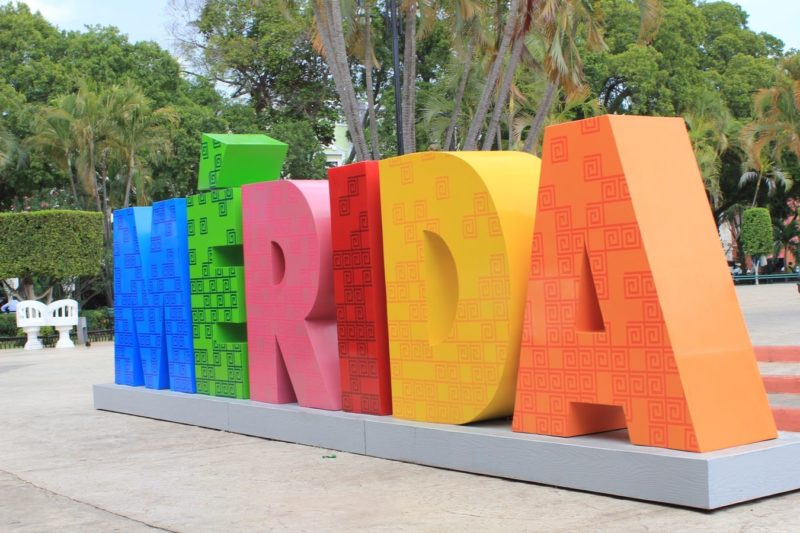 Best day trips from Merida the Merida sign