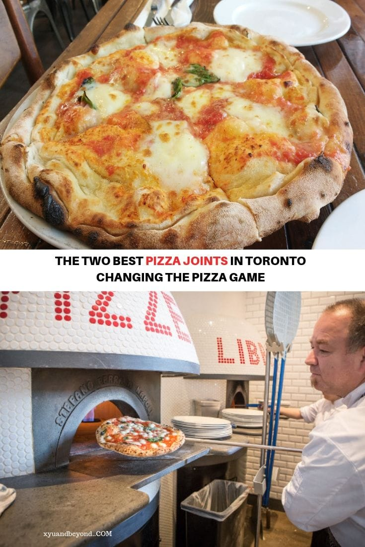 Two of the best Pizzas in Toronto Canada