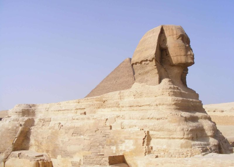 the Sphinx in Cairo