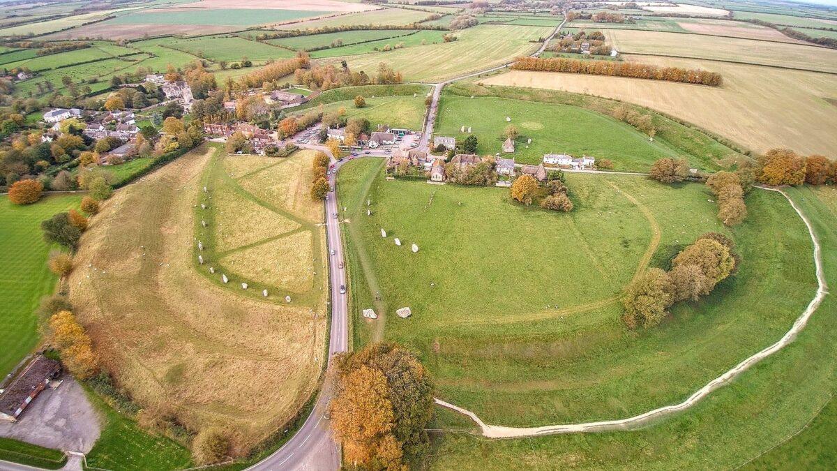 Avebury Henge an aerial view