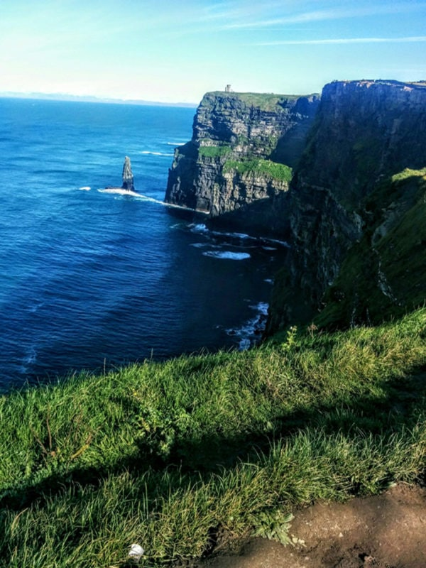 the small sea stack at the Cliffs of Moher