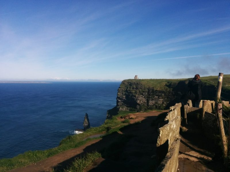 the walking path at the Cliffs of Moher
