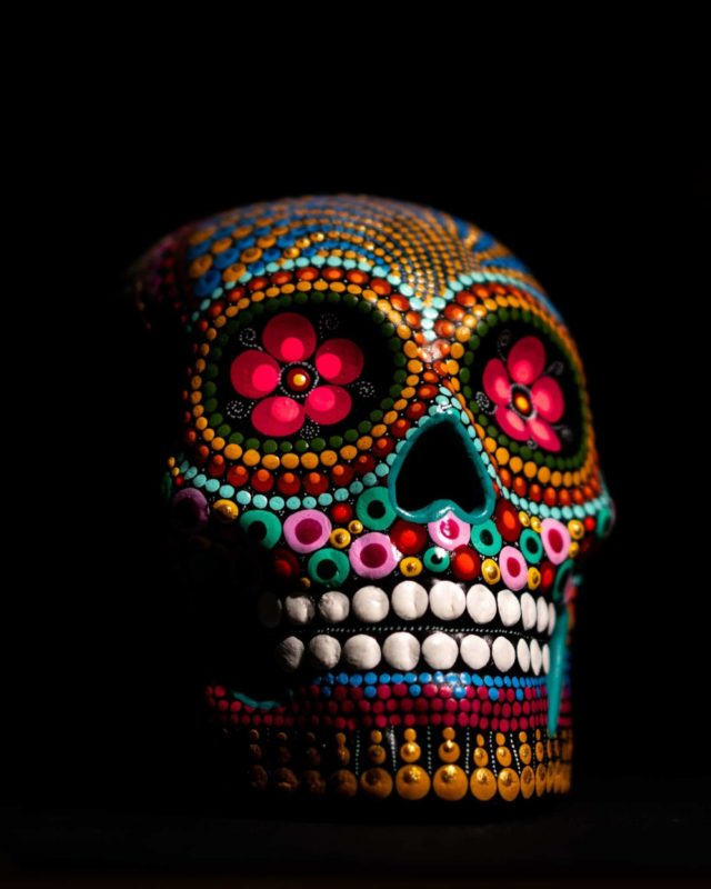 calaveras a decorated skull for the Day of the Dead in Mexico