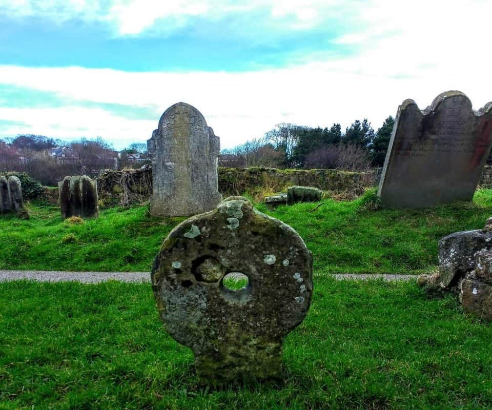the Black Nun's grave at Bunamargy Friary in Ballycastle