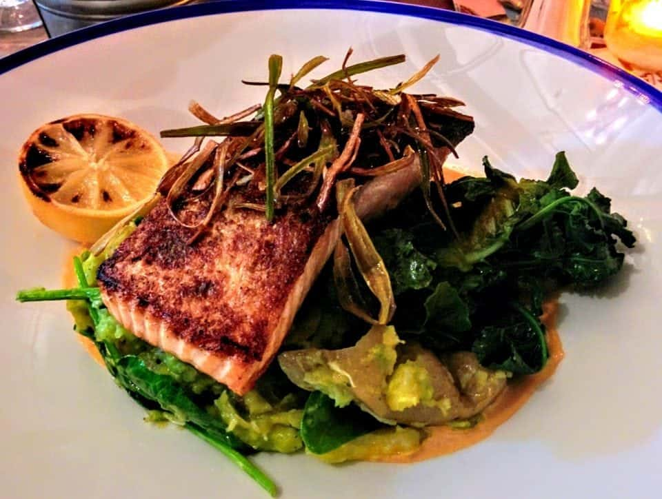 Salmon dish at Made in Belfast