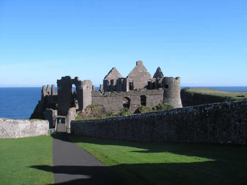 Dunluce perched on the cliff edge one or Ireland's haunted castles