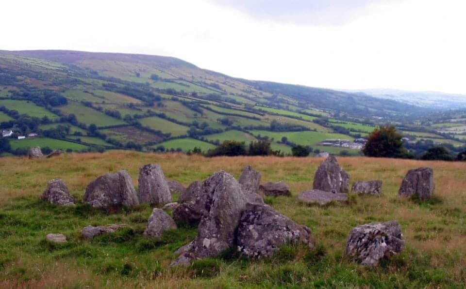 Ossians grave in the glens of Antrim