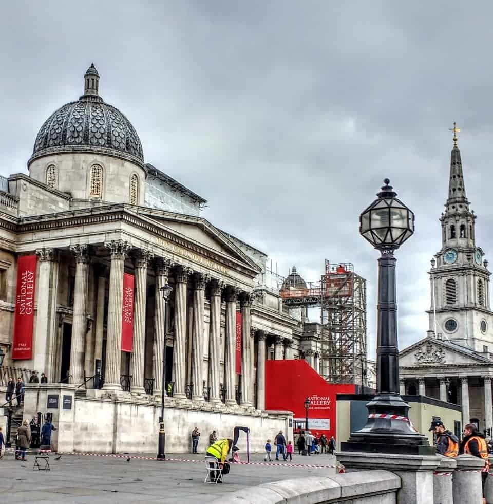 Trafalgar Square and the Museum of Art