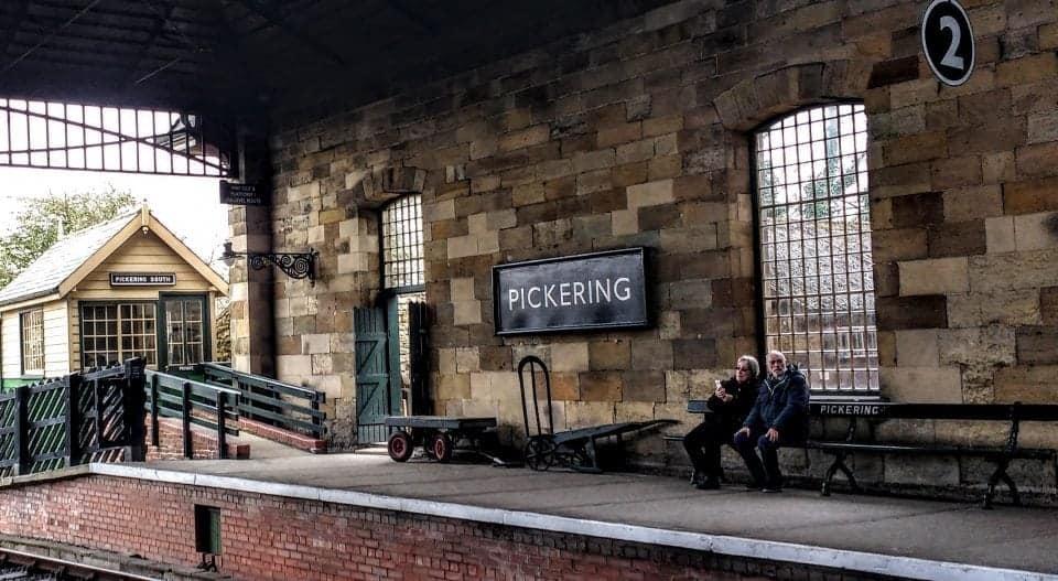 Pickering station North Yorkshire Moors steam train trip