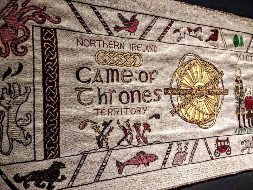 Viewing the Game of Thrones Tapestry in Belfast Ireland