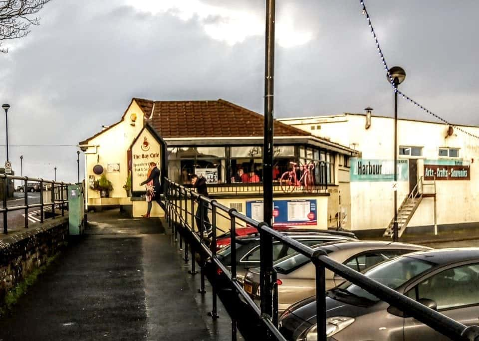 exterior shot of the Bay Cafe in Ballycastle on the Causeway Coast Route
